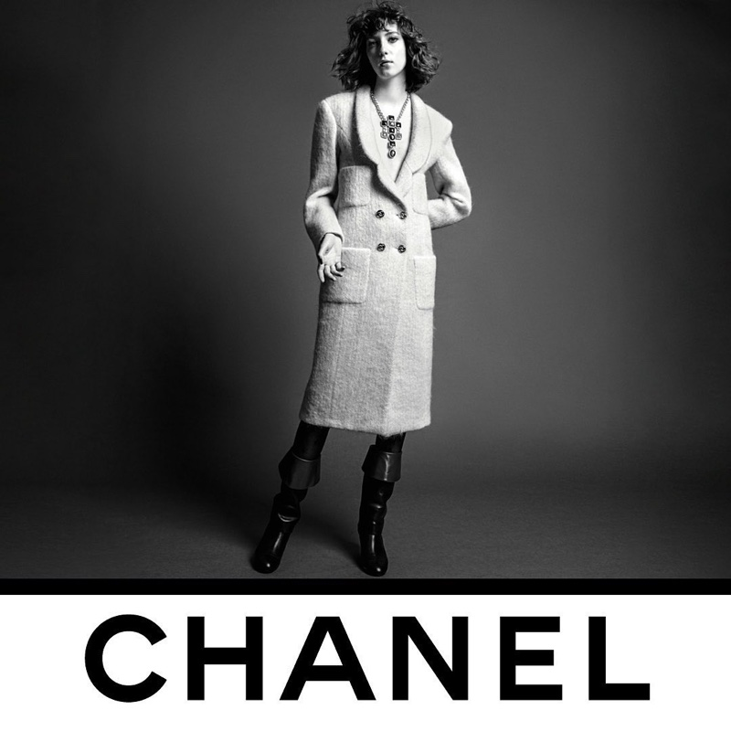 Evelyn Nagy stars in Chanel fall-winter 2020 campaign.
