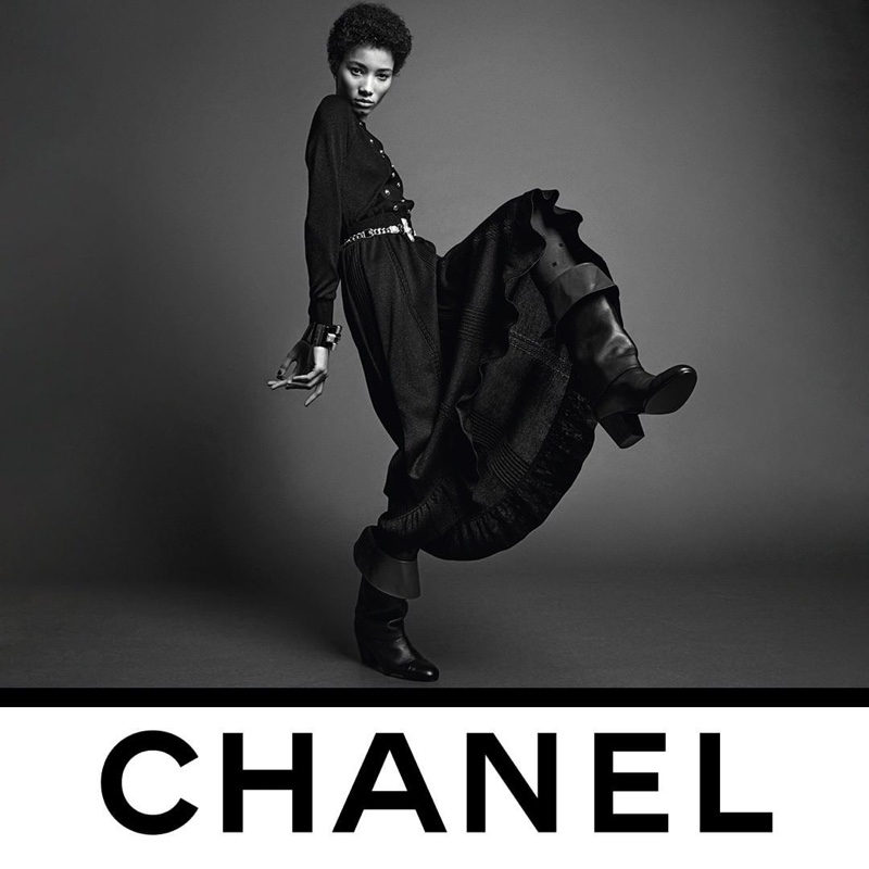Lineisy Montero fronts Chanel fall-winter 2020 campaign.