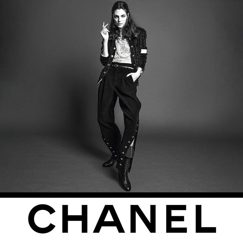 Vittoria Ceretti appears in Chanel fall-winter 2020 campaign.