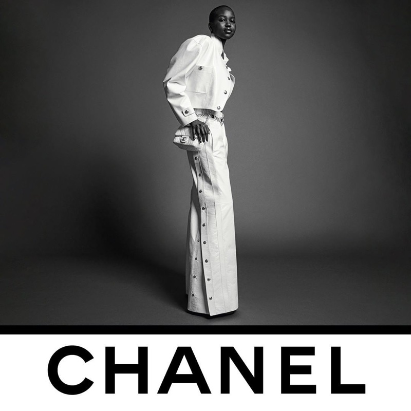 Adut Akech fronts Chanel fall-winter 2020 campaign.