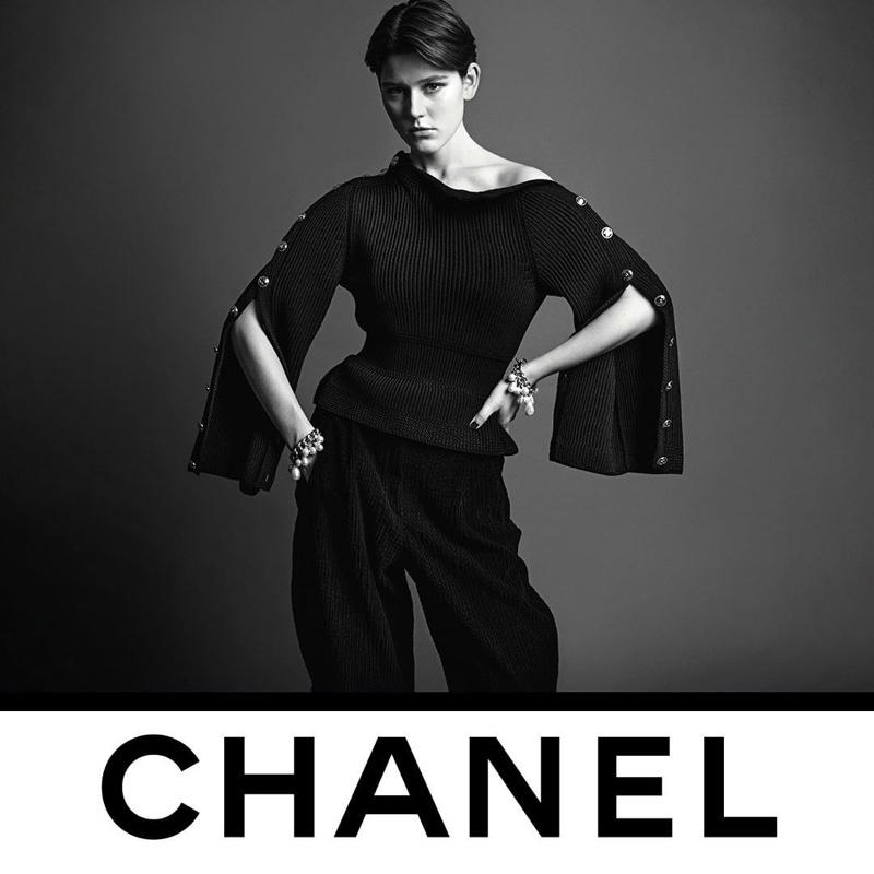 Vivienne Rohner stars in Chanel fall-winter 2020 campaign.