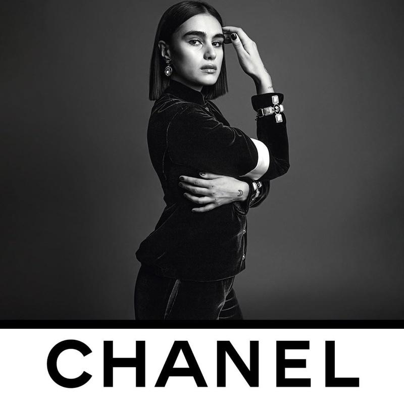 Jill Kortleve appears in Chanel fall-winter 2020 campaign.