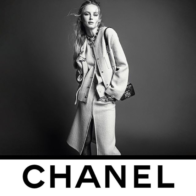Rianne van Rompaey fronts Chanel fall-winter 2020 campaign.