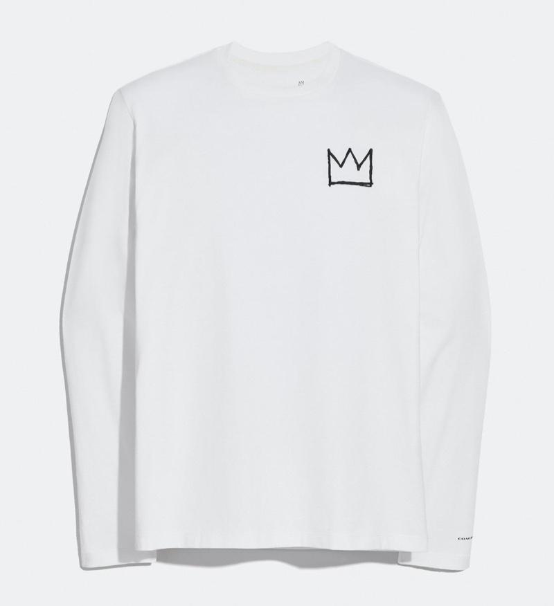 Coach x Jean-Michel Basquiat Long Sleeve T-Shirt in White $175