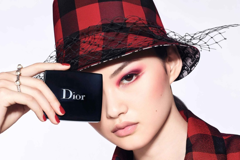 He Cong fronts Dior Diorshow fall 2020 makeup campaign.