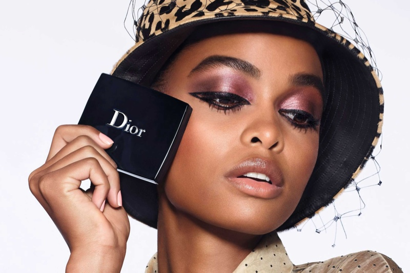 Blesnya Minher stars in Dior Diorshow fall 2020 makeup campaign.