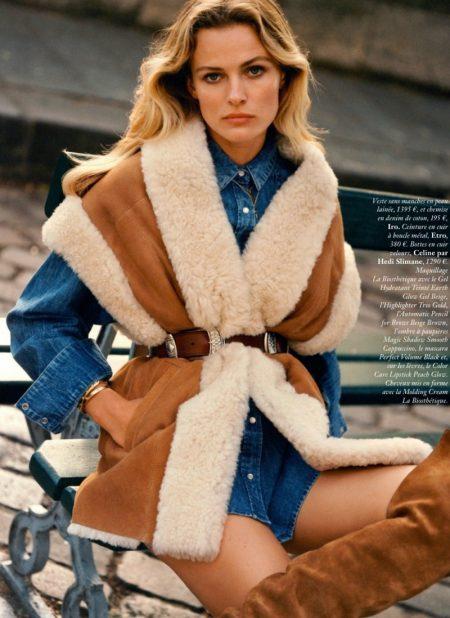 Edita Vilkeviciute Wears Casually Stylish Looks for Vogue Paris
