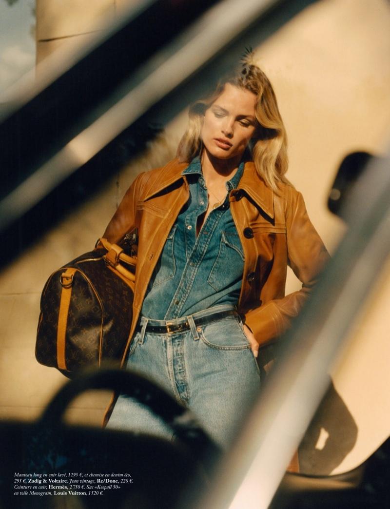 Edita Vilkeviciute Wears Casually Stylish Looks for Vogue Paris