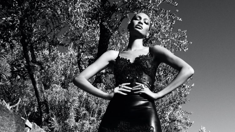 Joan Smalls stars in Ermanno Scervino fall-winter 2020 campaign.