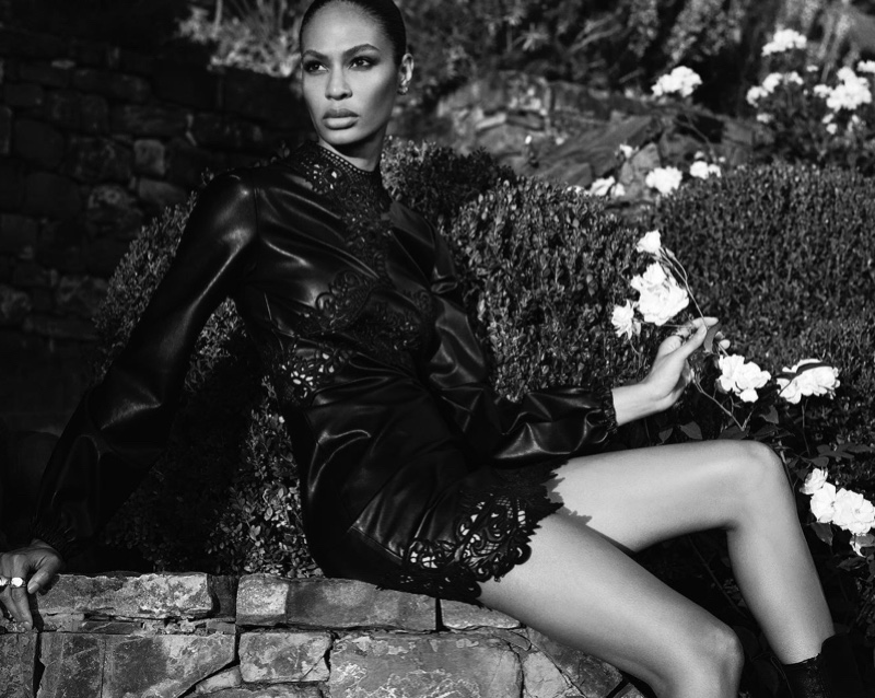 Model Joan Smalls appears in Ermanno Scervino fall-winter 2020 campaign.