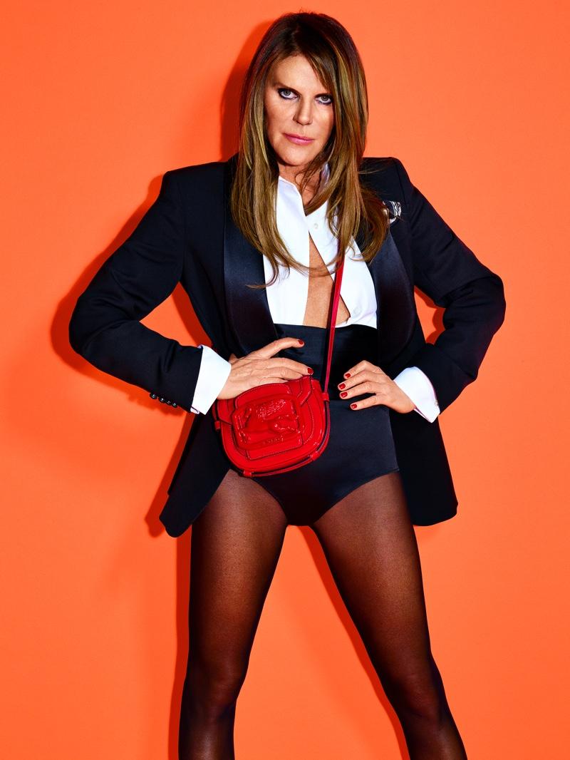 Anna dello Russo poses for Etro Pegasus Club campaign.