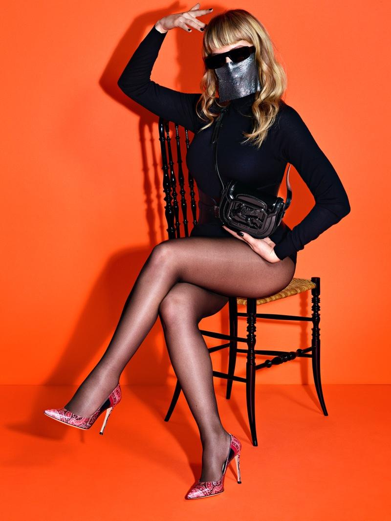 Myss Ketya poses for Etro Pegasus Club campaign.