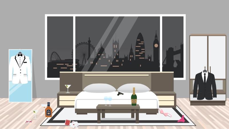 Fictional bedroom 1