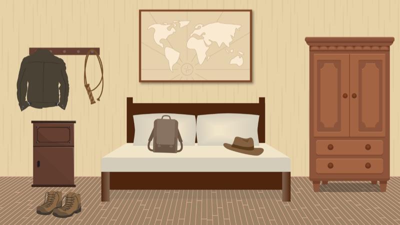 Fictional bedroom 2