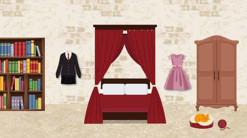 Fictional bedroom 3