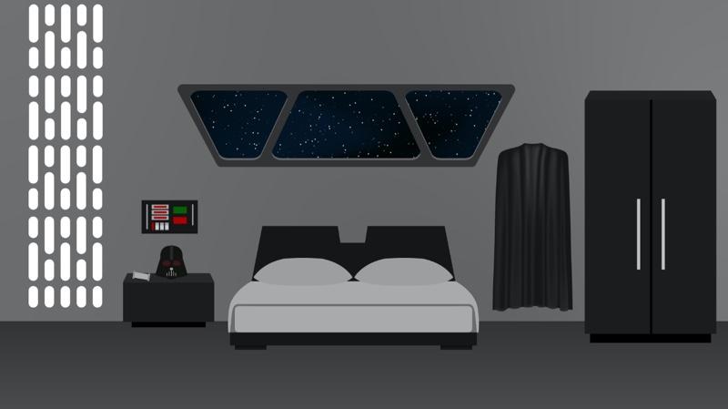 Fictional bedroom 4