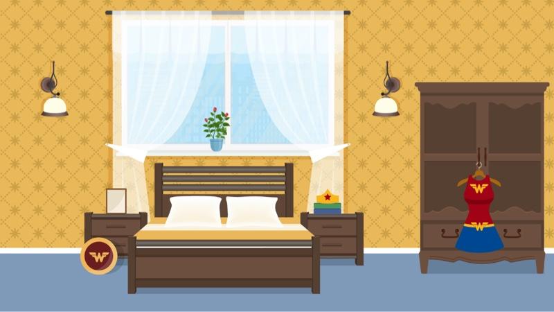 Fictional bedroom 5