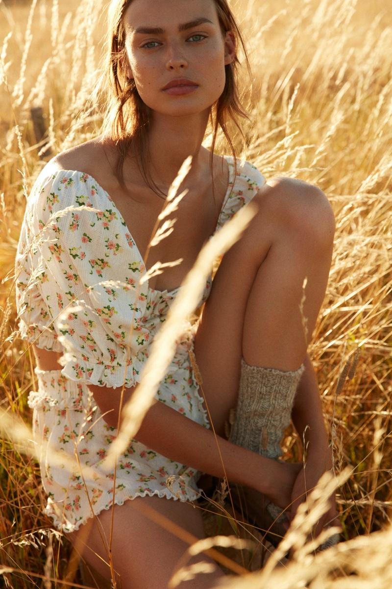 Birgit Kos fronts For Love & Lemons x Victoria's Secret fall 2020 part 2 campaign.