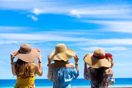 Girlfriends Vacation Tropical Beach Sun Hats