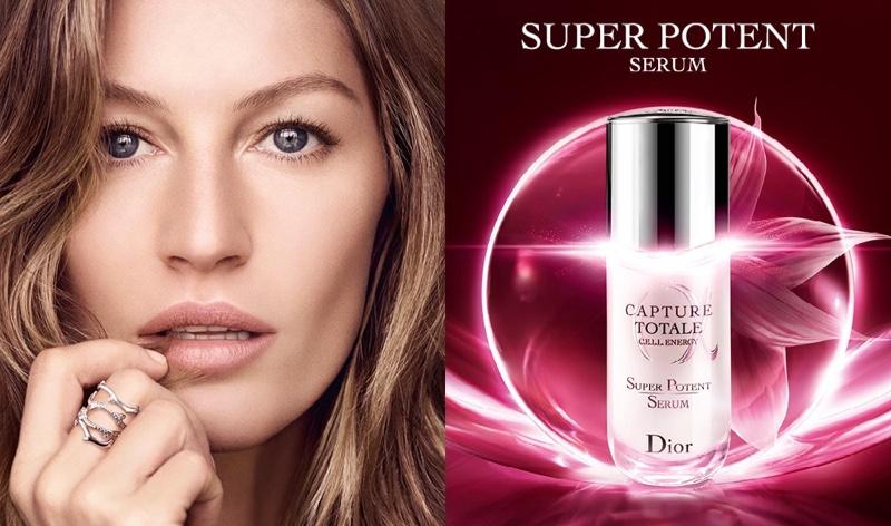 Dior unveils Capture Totale Super Potent Serum campaign with Gisele Bundchen.