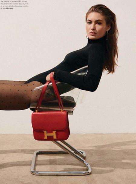 Grace Elizabeth Rocks Statement Handbags for Vogue Paris