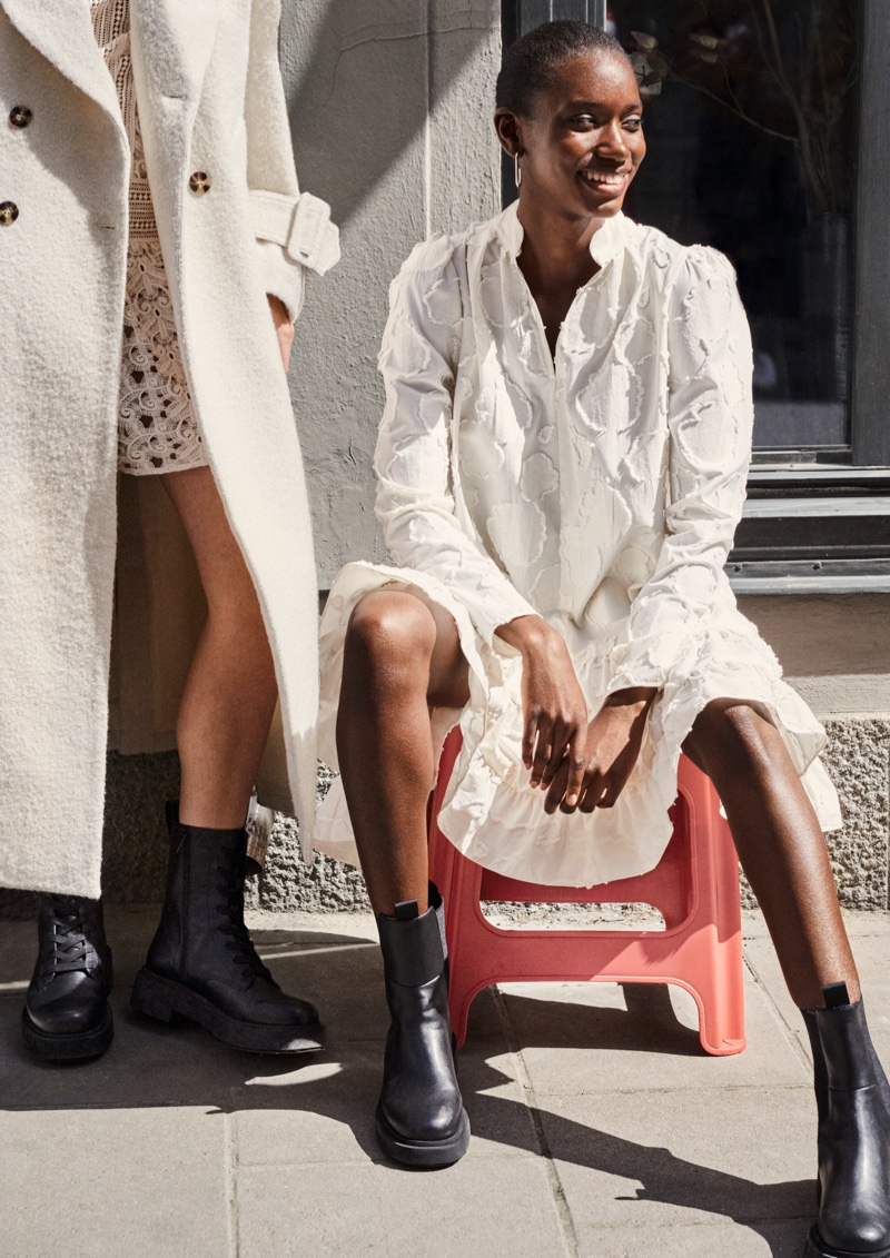 Amie Jeng stars in H&M fall 2020 campaign.