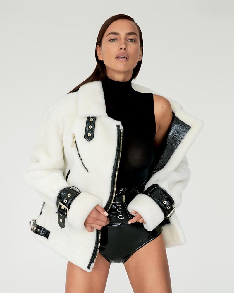 Irina Shayk is the face of Nicole Benisti fall-winter 2020 campaign.