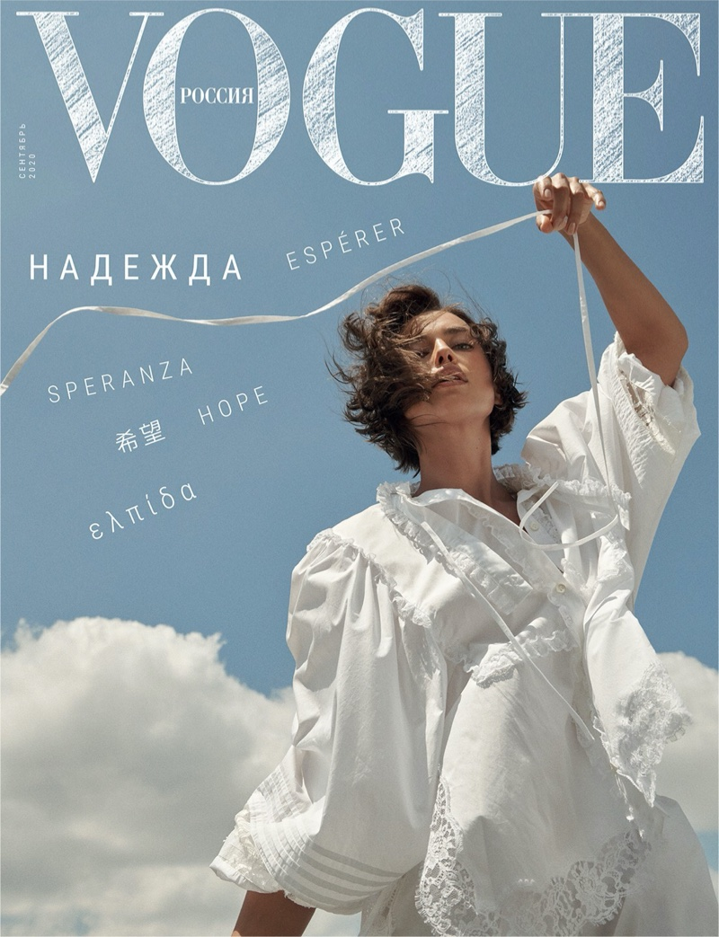 Irina Shayk on Vogue Russia September 2020 Cover