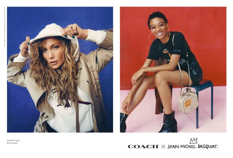 Jennifer Lopez and Jessica Kelly star in Coach x Jean-Michel Basquiat campaign.
