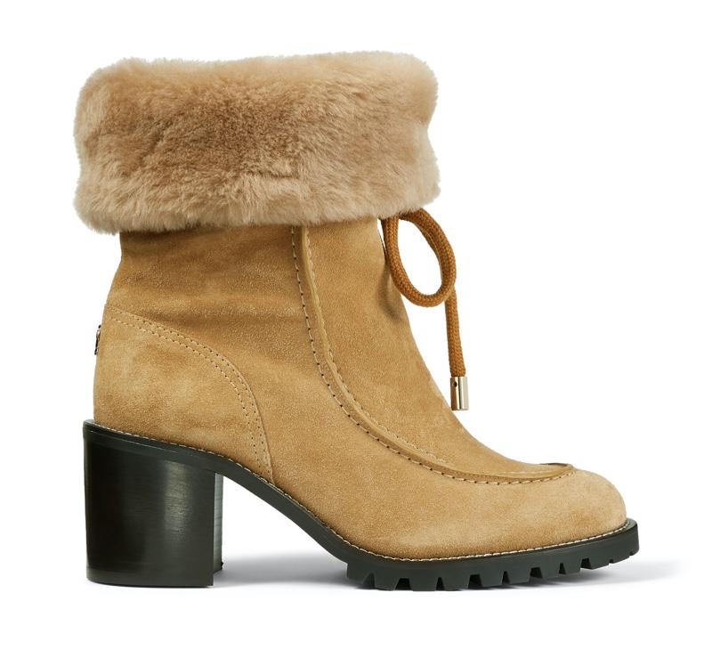 Jimmy Choo Buffy 65 Honey Suede Hiker Boots $1,250
