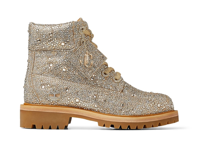 Jimmy Choo x Timberland Golden Mix Shimmer Suede Boots $5,500