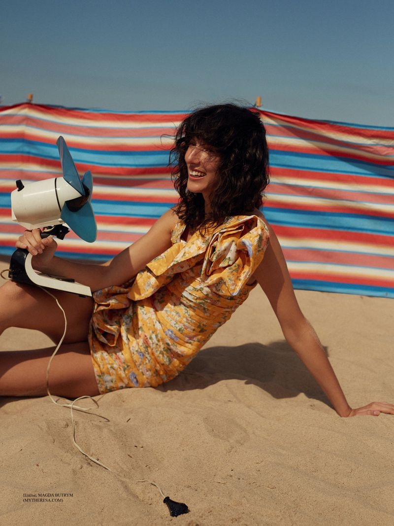 Karo Laczkowska Poses in Bold Beach Looks for ELLE Russia