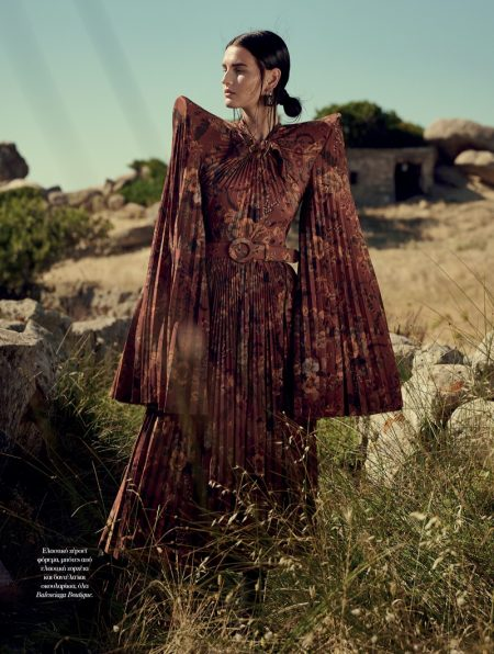 Katlin Aas Models Enchanting Looks for Vogue Greece