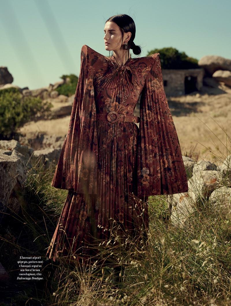 Katlin Aas Models Enchanting Looks for Vogue Greece