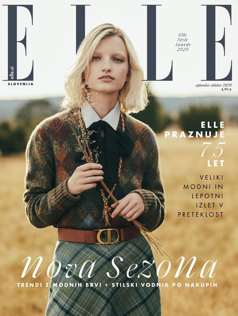 Kristin Drab Models Countryside Looks for ELLE Slovenia
