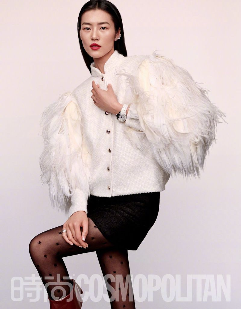 Liu Wen Poses in Chic Styles for Cosmopolitan China