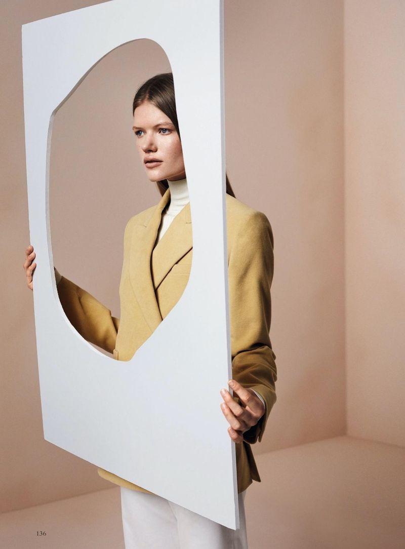 Madeleine Fischer Models Minimal Style for Harper's Bazaar Germany