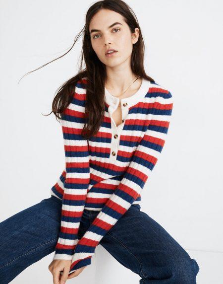 Madewell Alverton Henley Sweater $79.50