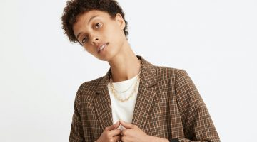 Madewell Caldwell Double-Breasted Blazer in Mandell Plaid $168