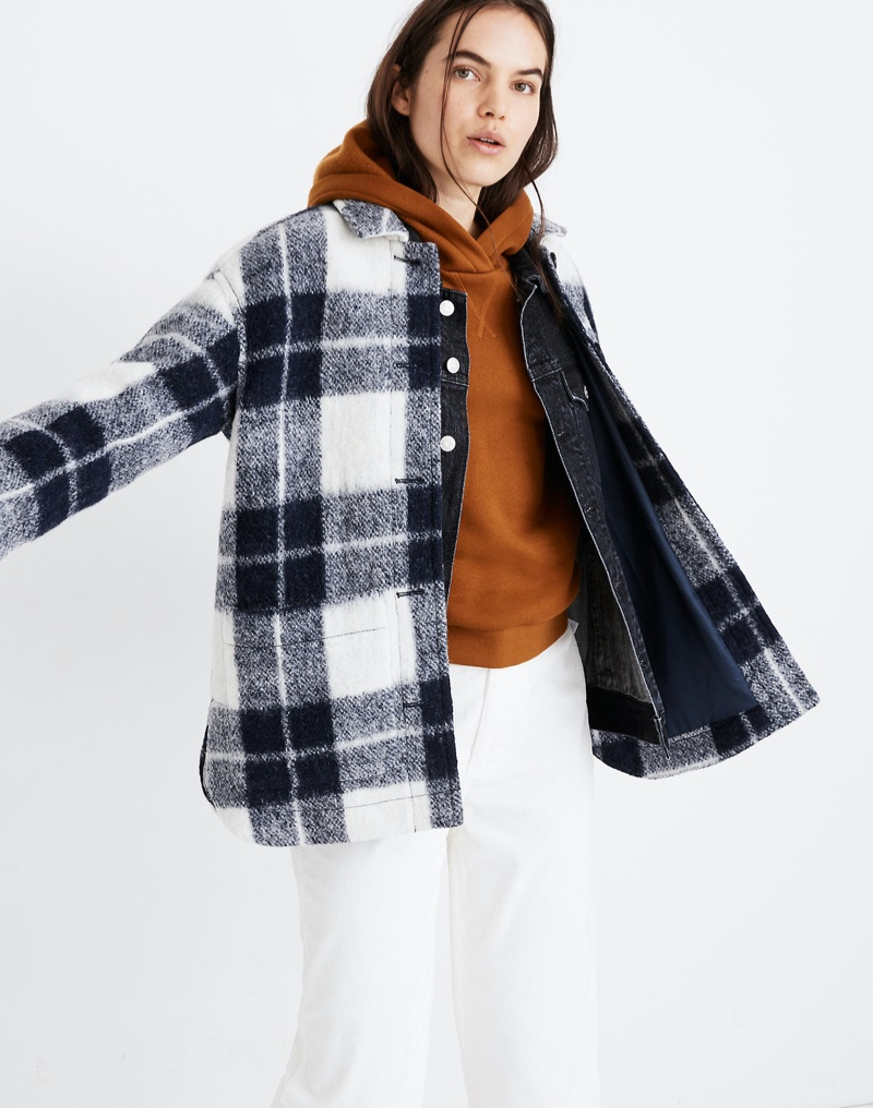 Madewell Plaid Walton Shirt-Jacket in Collection Plaid $88