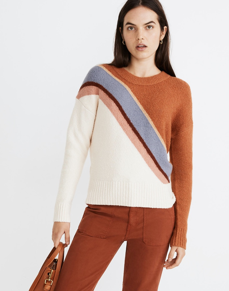 Madewell Striped Lyford Pullover Sweater $89.50