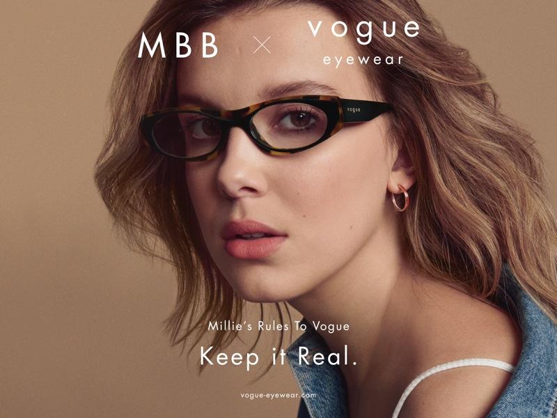 Millie Bobby Brown stars in MBB x Vogue Eyewear drop 2 campaign.