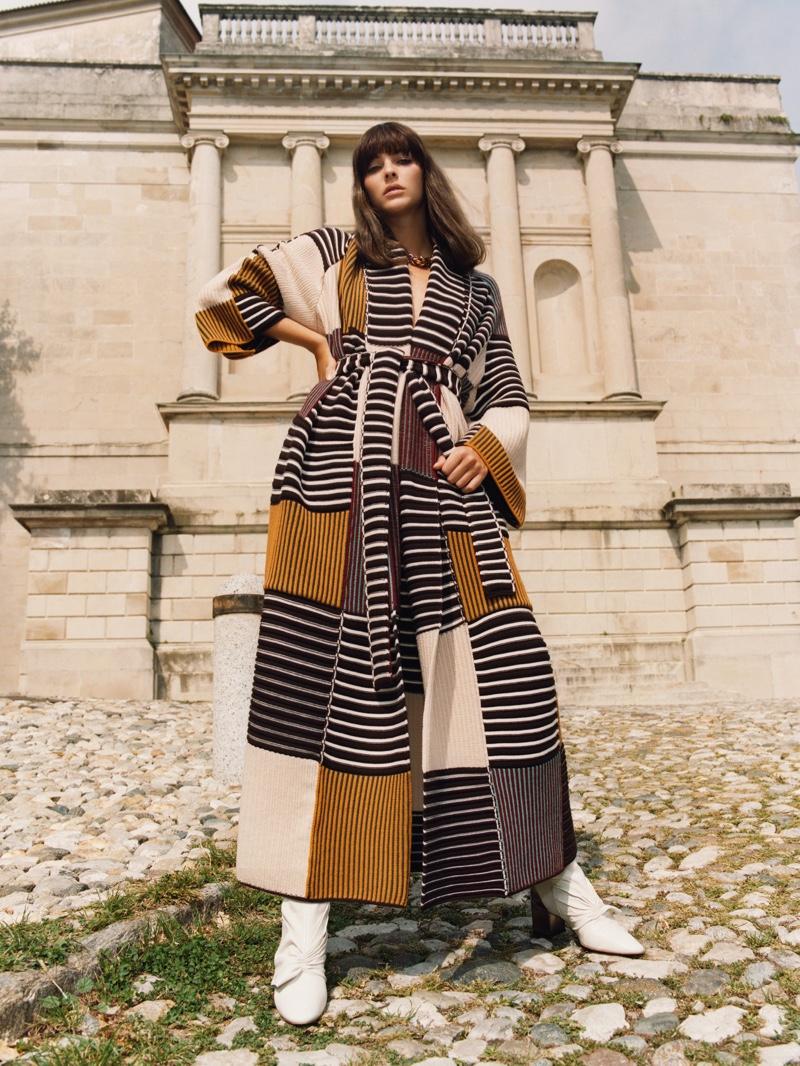 Vittoria Ceretti stars in Missoni fall-winter 2020 campaign.