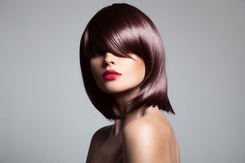 Model Chic Brown Bob Hairstyle Wig