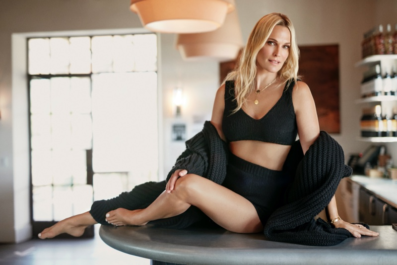 Molly Sims Embraces Fall Fashion for Editorialist