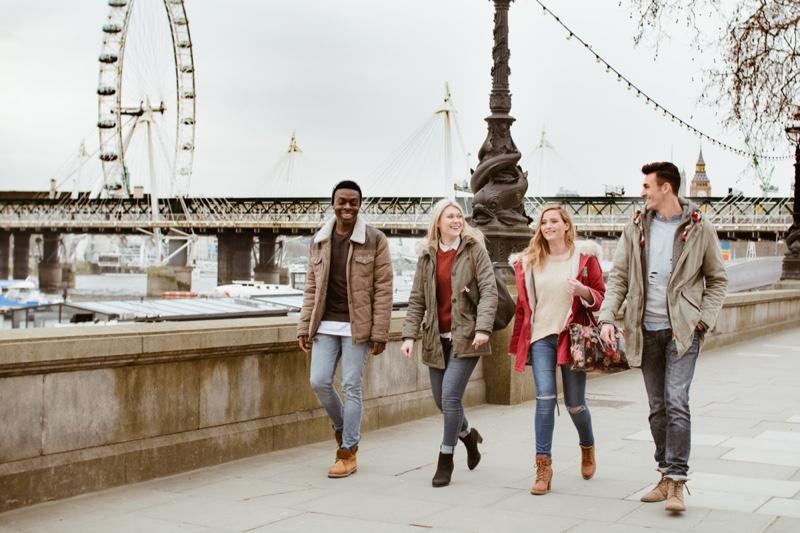 Multicultural Friends Walking London Eye