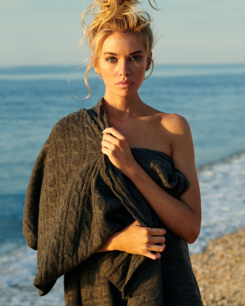 Model Stella Maxwell is the face of Naked Cashmere's fall 2020 campaign.