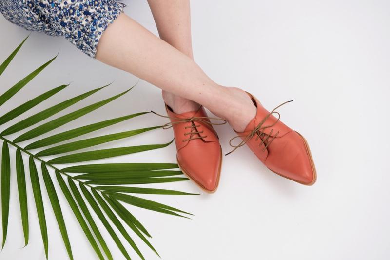 Orange Oxford Women's Shoes Legs