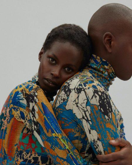 Ornella Nkeza Models Statement Looks for Marie Claire Turkey