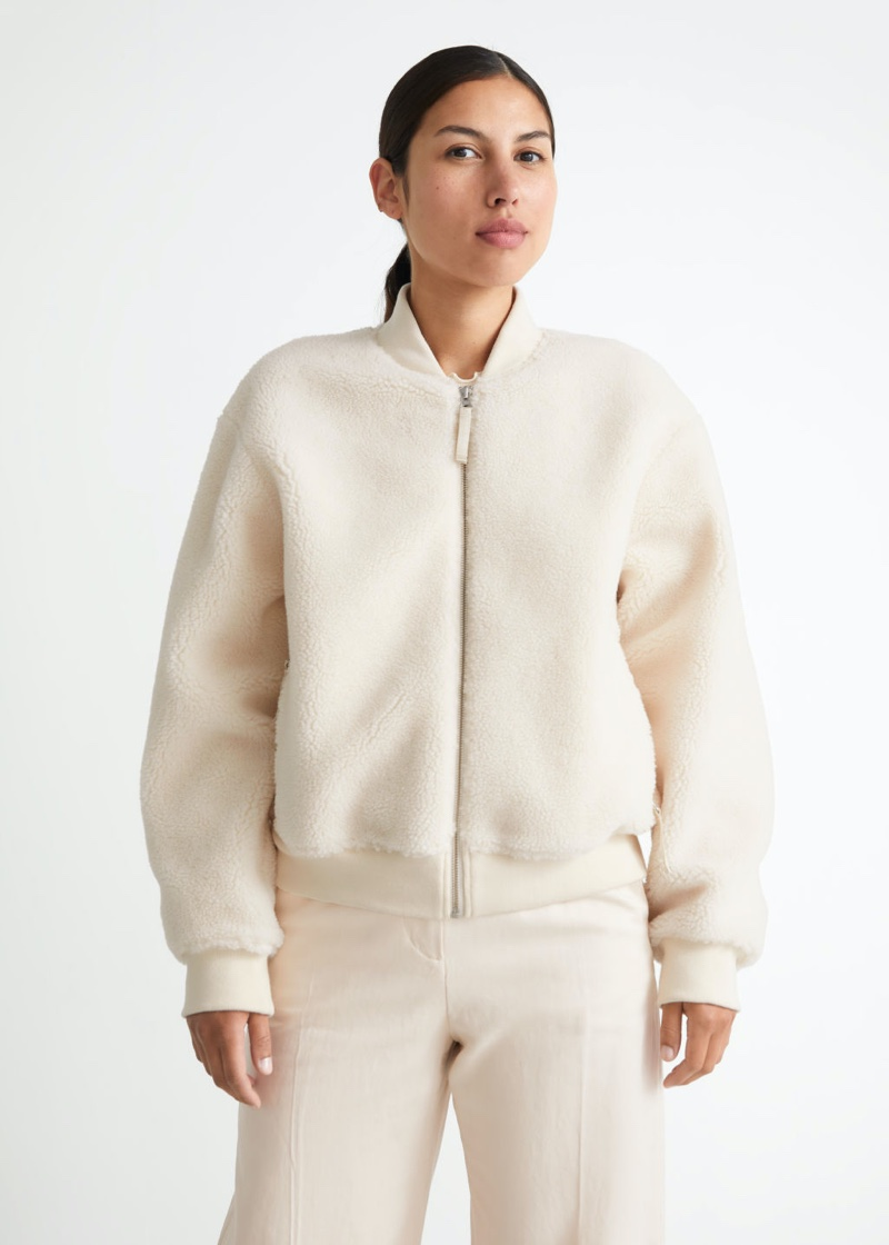 & Other Stories Pile Bomber Jacket $149